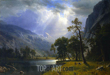 Yosemite Valley, 1866 | Bierstadt | Painting Reproduction