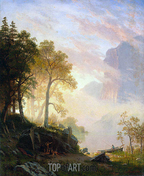 The Merced River in Yosemite, 1868 | Bierstadt | Painting Reproduction