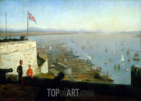 St. Lawrence River from the Citadel, Quebec, c.1880   Bierstadt   Painting Reproduction