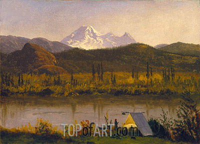 Mt. Baker, Washington, From the Frazier River, 1890 | Bierstadt | Gemälde Reproduktion