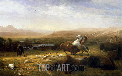 The Last of the Buffalo, c.1888 | Bierstadt | Painting Reproduction