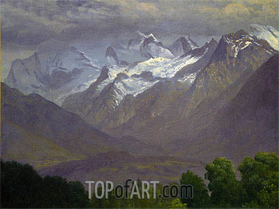 In the High Mountains, indated | Bierstadt | Painting Reproduction