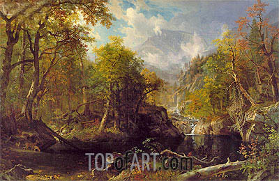 The Emerald Pool, 1870 | Bierstadt | Painting Reproduction