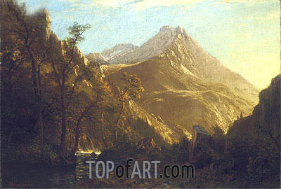 Wasatch Mountains, undated | Bierstadt | Painting Reproduction