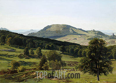 Landscape - Hill and Dale, undated | Bierstadt | Painting Reproduction