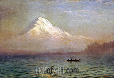 Sunrise on Mount Tacoma, undated | Bierstadt | Painting Reproduction