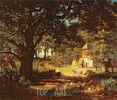 The House in the Woods, undated | Bierstadt | Painting Reproduction