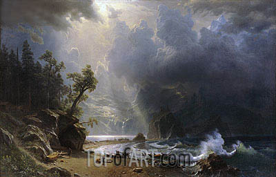 Puget Sound on the Pacific Coast, 1870 | Bierstadt | Painting Reproduction
