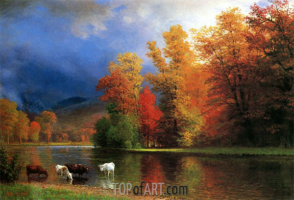 On the Saco, undated | Bierstadt | Painting Reproduction