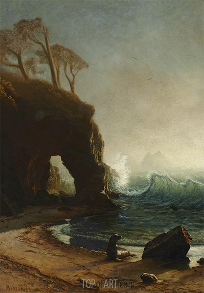 Point Lobos, California, undated | Bierstadt | Painting Reproduction