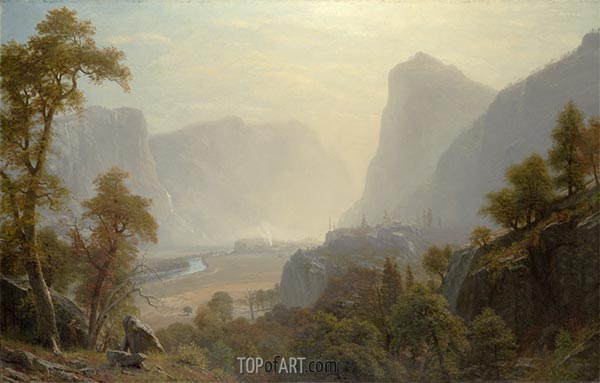 The Hetch-Hetchy Valley, California, c.1874/80 | Bierstadt | Painting Reproduction