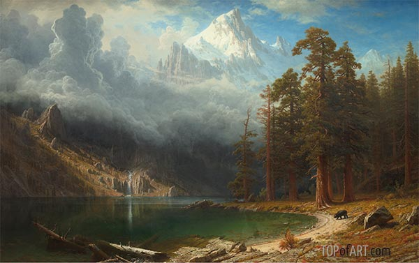 Mount Corcoran, c.1876/77 | Bierstadt | Painting Reproduction