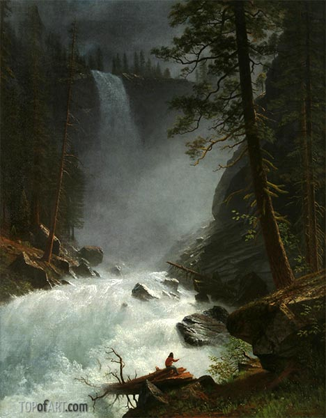 A Stream in the Rocky Mountains, 1882 | Bierstadt | Painting Reproduction