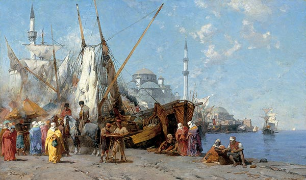 Market in Constantinople, 1868 | Alberto Pasini | Painting Reproduction