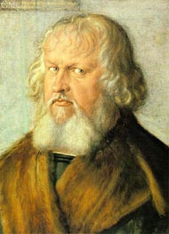 Portrait of Hieronymus Holzschuher, 1526 by Durer | Painting Reproduction