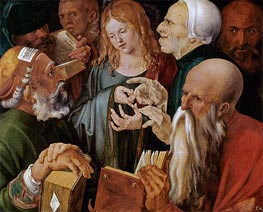 Christ Among the Doctors, 1506 by Durer | Painting Reproduction