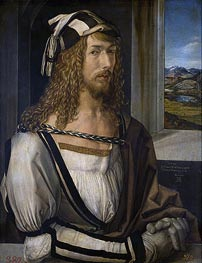 Self Portrait at 26, 1498 von Durer | Gemälde-Reproduktion