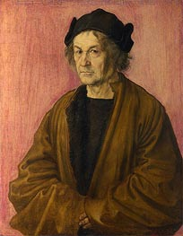 Portrait of Durer's Father at 70, 1497 von Durer | Gemälde-Reproduktion