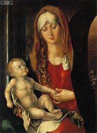 Virgin and Child before an Archway, c.1495 by Durer | Painting Reproduction