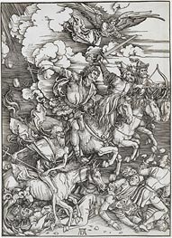 The Four Horsemen from the Apocalypse, 1498 by Durer | Painting Reproduction