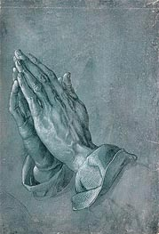 Hands of an Apostle (Praying Hands), 1508 by Durer | Painting Reproduction