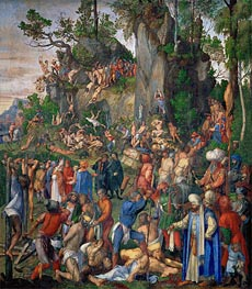 Martyrdom of the Ten Thousand Christians, 1508 by Durer | Painting Reproduction