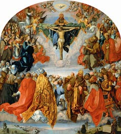 All Saints Day (The Landauer Altarpiece), 1511 by Durer | Painting Reproduction