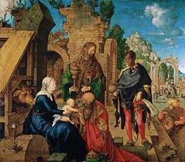 Adoration of the Magi, 1504 by Durer | Painting Reproduction
