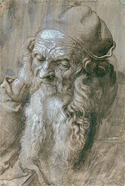 Portrait of an Old Man (Study for a Saint), 1521 by Durer | Painting Reproduction