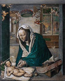 Mary Adoring the Child (Dresden Altarpiece - Central Panel) | Durer | Gemälde Reproduktion