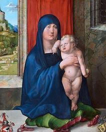Madonna and Child (Haller Madonna), c.1496/99 by Durer | Painting Reproduction