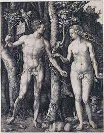 Adam and Eve | Durer | Painting Reproduction