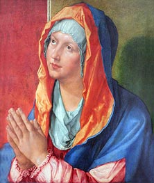 The Virgin Mary in Prayer | Durer | Painting Reproduction