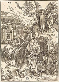 The Angel with the Key to the Bottomless Pit, 1498 by Durer | Painting Reproduction