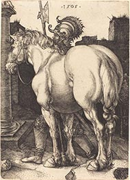 Large Horse, 1505 by Durer | Painting Reproduction