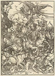 The Four Horsemen, 1498 by Durer | Painting Reproduction