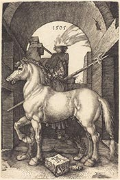 Small Horse, 1505 by Durer | Painting Reproduction