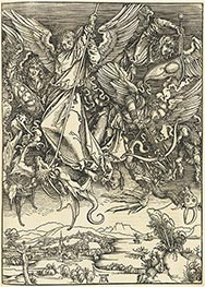 Saint Michael Fighting the Dragon, 1514 by Durer | Painting Reproduction