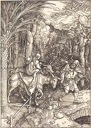 The Flight into Egypt, c.1504 by Durer | Painting Reproduction