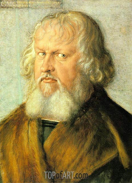 Portrait of Hieronymus Holzschuher, 1526 | Durer | Painting Reproduction