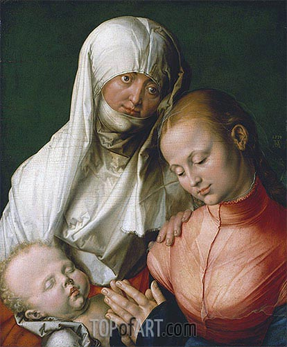 Saint Anne with the Virgin and Child, 1519 | Durer | Painting Reproduction