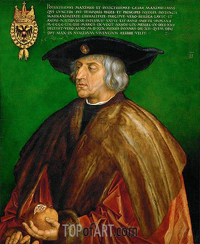 Portrait of Emperor Maximilian I, 1519 | Durer | Painting Reproduction