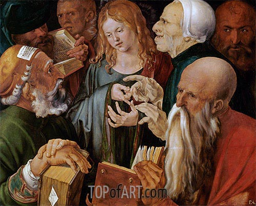 Christ Among the Doctors, 1506 | Durer | Painting Reproduction