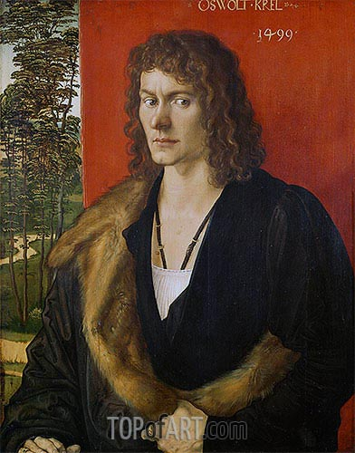 Portrait of Oswolt Krel, 1499 | Durer | Painting Reproduction