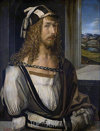 Self Portrait at 26, 1498 | Durer | Gemälde Reproduktion