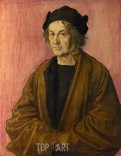 Portrait of Durer's Father at 70, 1497 | Durer | Painting Reproduction