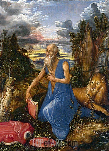 Saint Jerome in the Wilderness, c.1495 | Durer | Gemälde Reproduktion