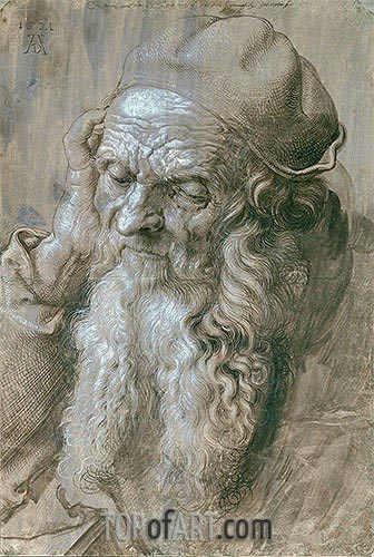 Portrait of an Old Man (Study for a Saint), 1521 | Durer | Painting Reproduction