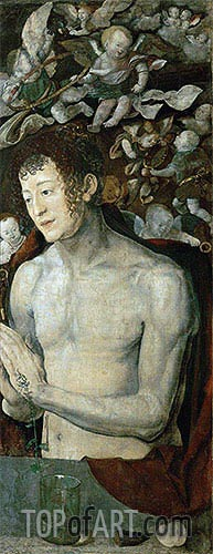 Saint Sebastian (Dresden Altarpiece - Right Panel), 1496 | Durer | Painting Reproduction