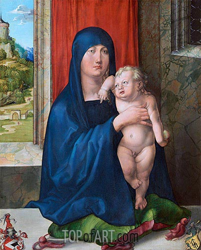 Madonna and Child (Haller Madonna), c.1496/99 | Durer | Painting Reproduction